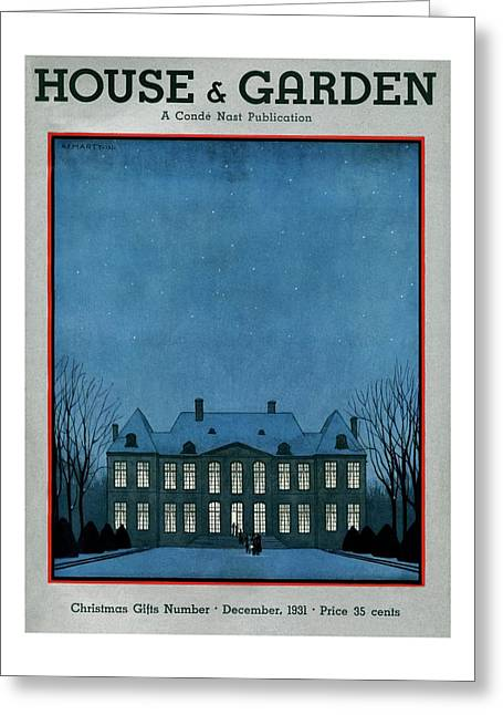 A 17th Century French Chateau Greeting Card