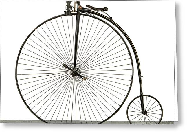A 52 Inch Ordinary Bicycle, Cerca 1880 Greeting Card