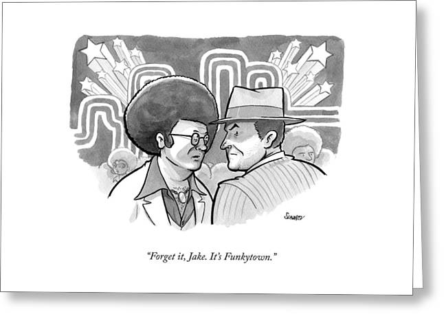 A 70's Disco Man Speaks To Jack Nicholson's Greeting Card
