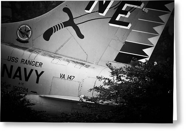 A-7e Tail Greeting Card by Maggy Marsh
