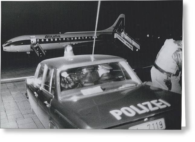 A Aeroplane Hijacked To Munich Greeting Card by Retro Images Archive