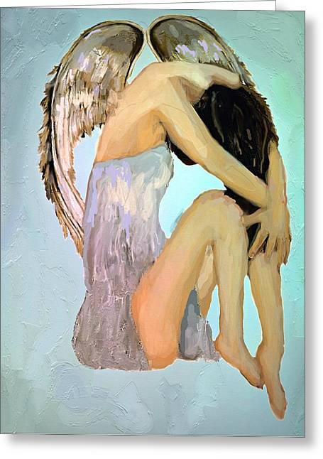 A Angels Tears Greeting Card by Iris Piraino