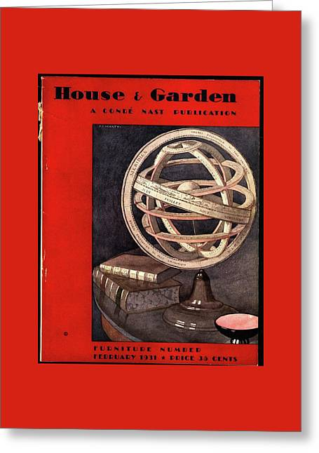 A Armillary Sphere Greeting Card by Andre E.  Marty