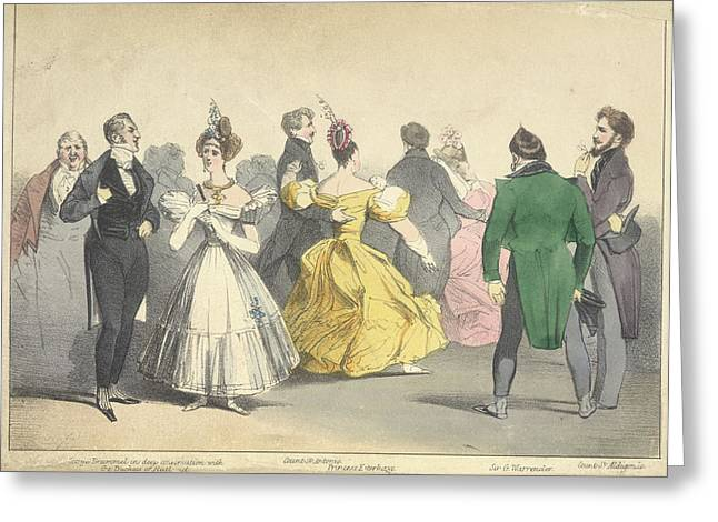 A Ball At Almacks In 1815 Greeting Card by British Library