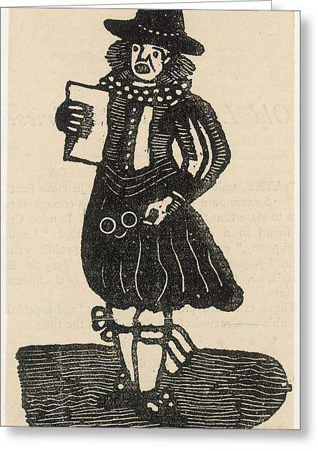 A Ballad Singer Of The London Streets Greeting Card by Mary Evans Picture Library