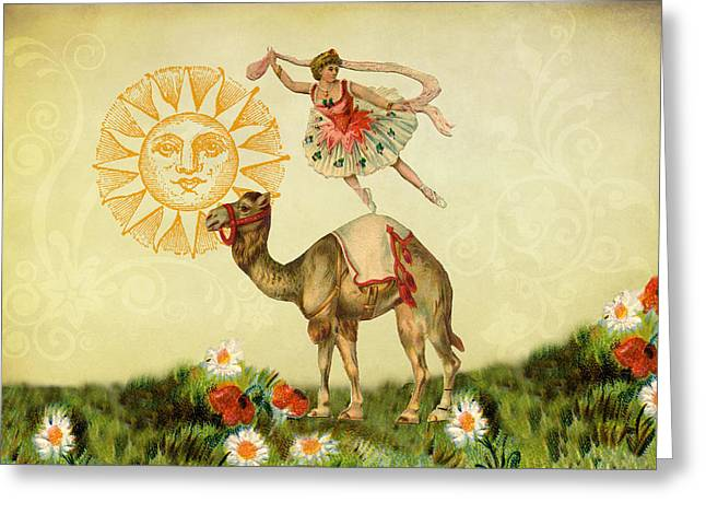 A Ballerina And Her Camel Greeting Card