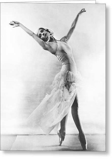 A Ballet Dancer Greeting Card by Underwood Archives