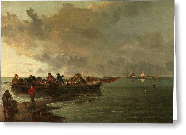 A Barge With A Wounded Soldier, John Crome Greeting Card by Litz Collection