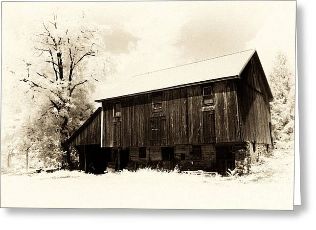 A Barn Of Old Greeting Card by Paul W Faust -  Impressions of Light