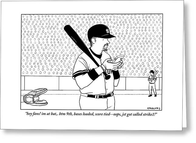 A Baseball Player Yankees Twitters Greeting Card
