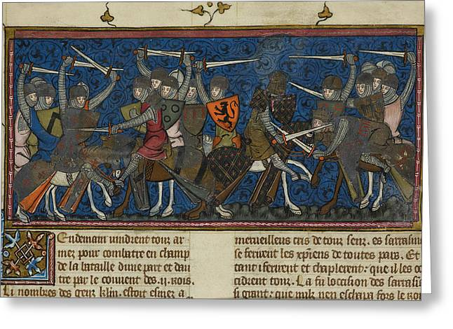 A Battle Scene Greeting Card by British Library