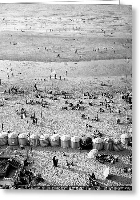 A Beach In Cherbourg Greeting Card by Erwin Blumenfeld