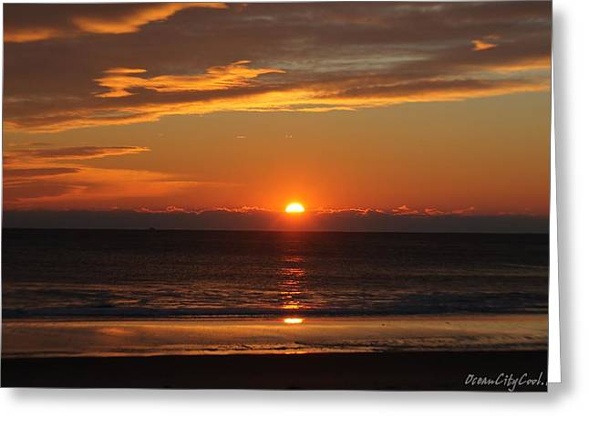 A Beach Life Sunrise Greeting Card