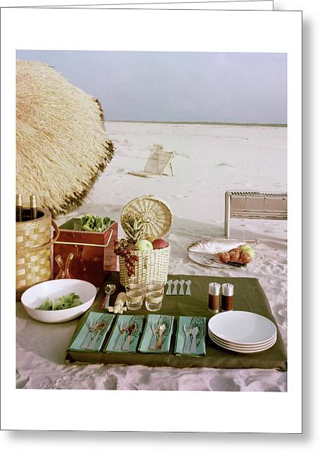 A Beach Picnic Greeting Card