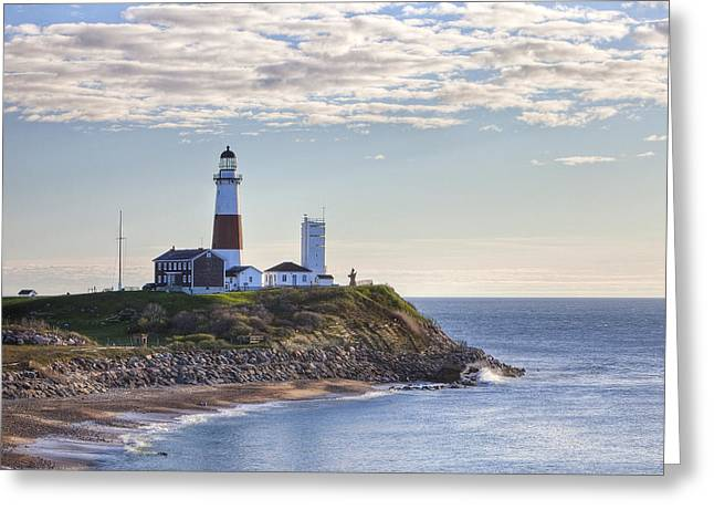A Beacon On The Hill Greeting Card by Mike Lang