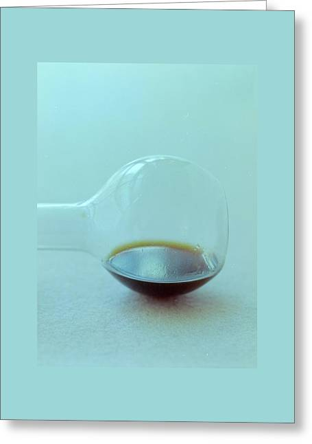 A Beaker With Vinegar Greeting Card by Romulo Yanes