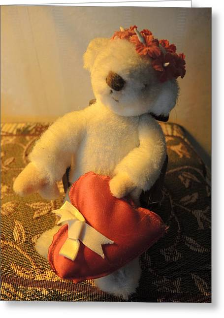 A Bear's Love Greeting Card by Chrissey Dittus