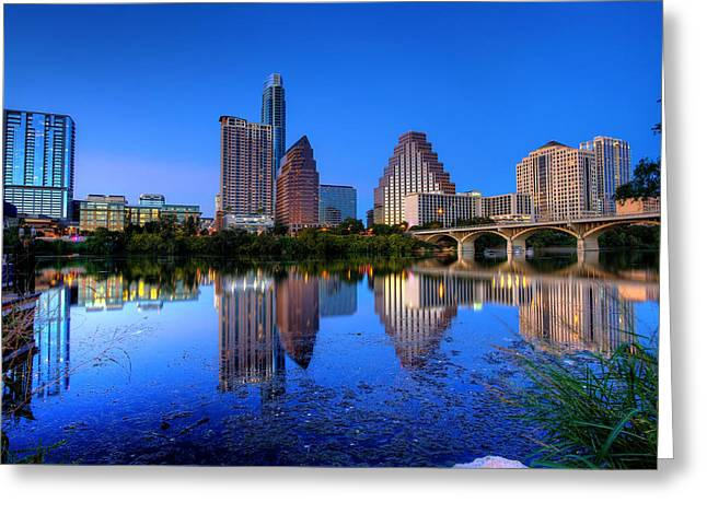 A Beautiful Austin Evening Greeting Card