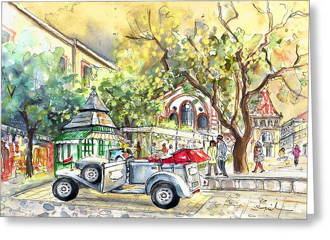 A Beautiful Car In Budapest Greeting Card by Miki De Goodaboom