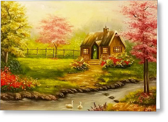 A Beautiful Day Greeting Card by Edith Hernandez Art