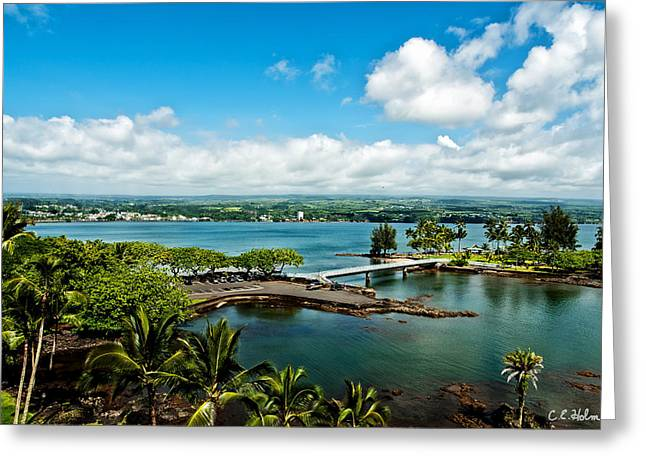 A Beautiful Day Over Hilo Bay Greeting Card by Christopher Holmes