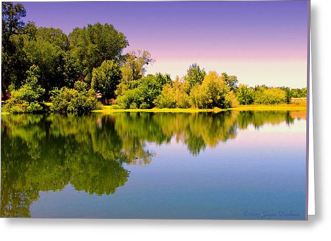 A Beautiful Day Reflected Greeting Card by Joyce Dickens