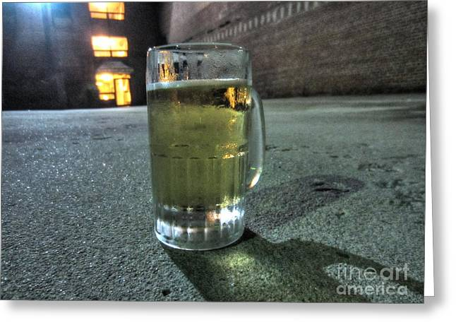 A Beer Mug In An Alley  Greeting Card