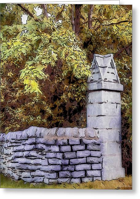 A Bend In The Wall Greeting Card