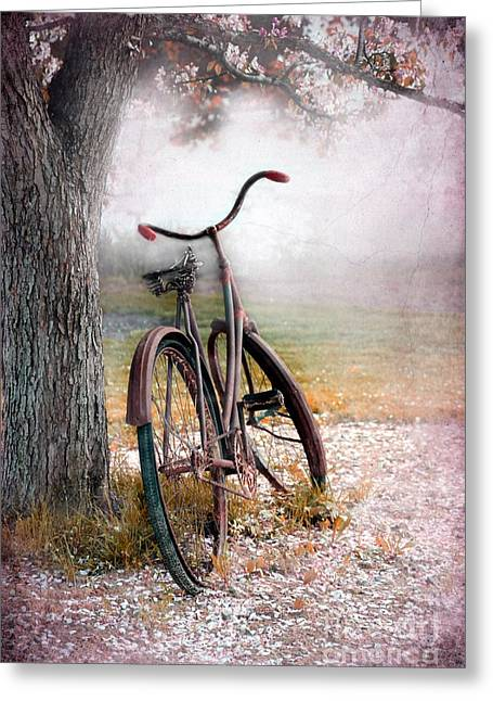 A Bicycle For Romance Greeting Card by Sophie Vigneault