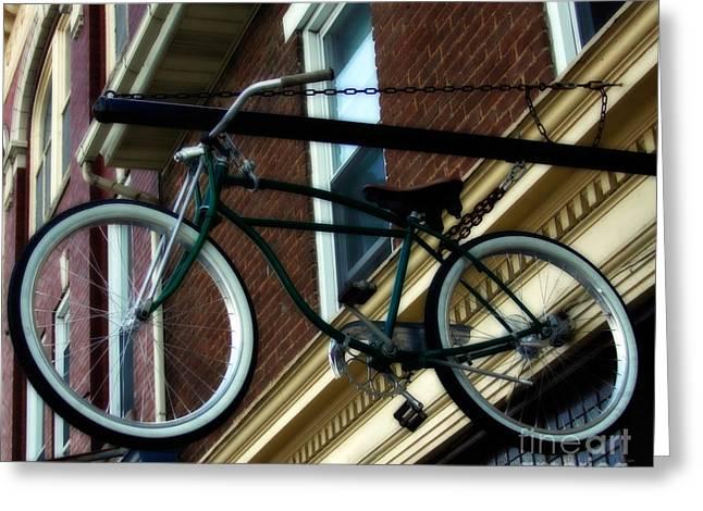 A Bike Hanging  Greeting Card