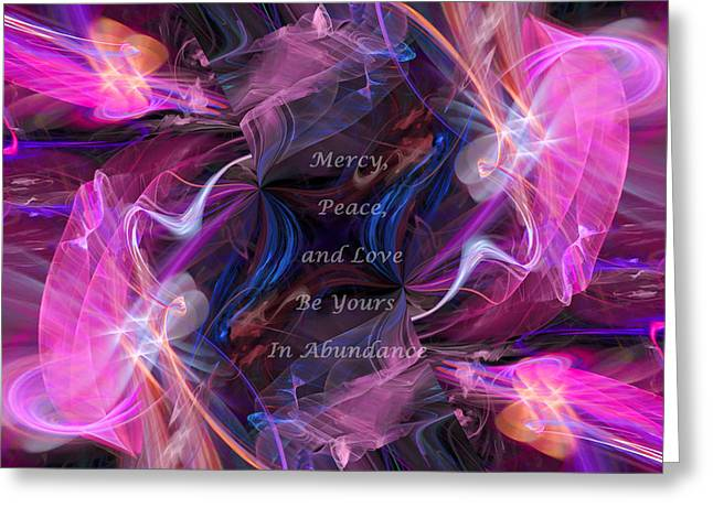 A Blessing Greeting Card by Margie Chapman