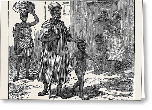 A Blind Beggar. Cape Coast Castle 1874 Greeting Card by English School