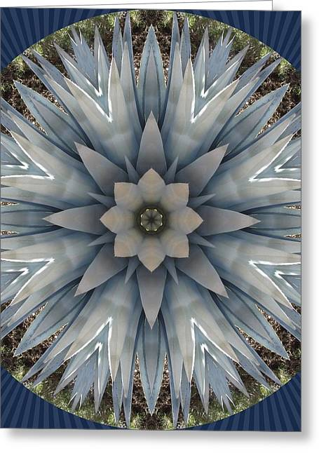 A Blue Agave Greeting Card