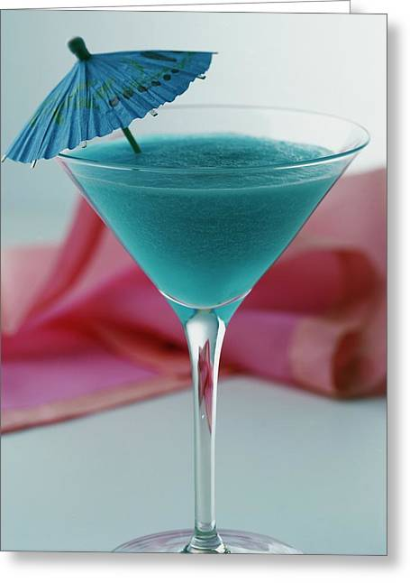 A Blue Hawaiian Cocktail Greeting Card
