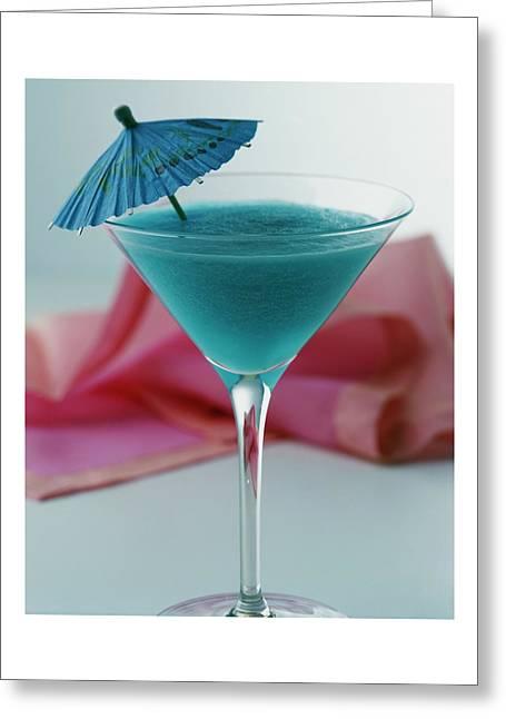 A Blue Hawaiian Cocktail Greeting Card