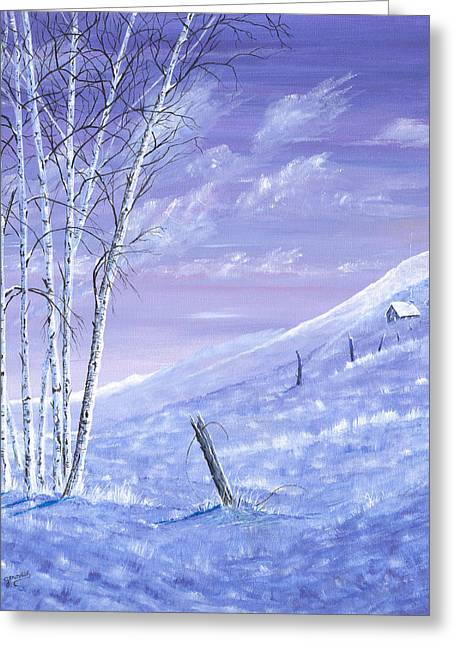 A Blue Winter Greeting Card