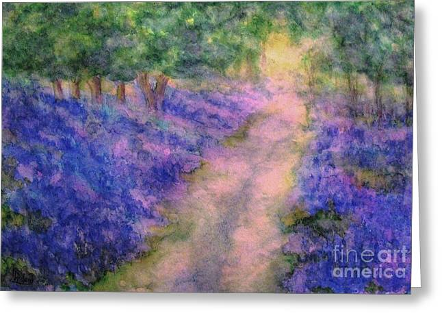 A Bluebell Carpet Greeting Card by Hazel Holland
