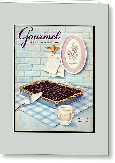 A Blueberry Tart Greeting Card by Hilary Knight