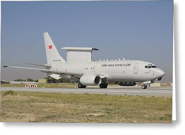 A Boeing 737 Aew&c Of The Turkish Air Greeting Card