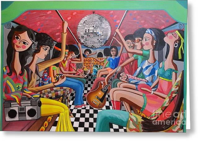 A Boogie Jeepney Ride Greeting Card by Ferdz Manaco