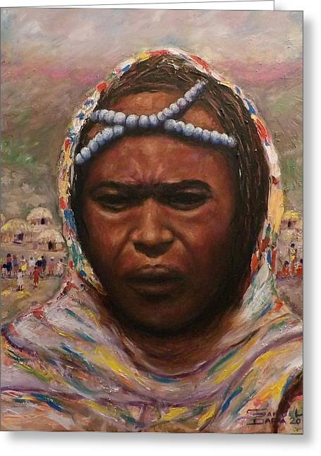 A Borana Lady. Greeting Card