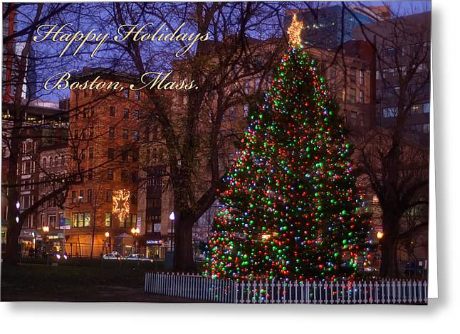 Greeting Card featuring the photograph A Boston Holiday by Joann Vitali