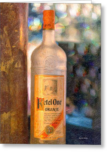 A Bottle Of Ketel One Greeting Card by Angela A Stanton