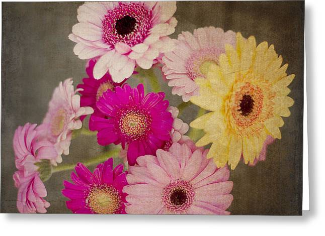 A Bouquet Of Gerbera Daisies Greeting Card