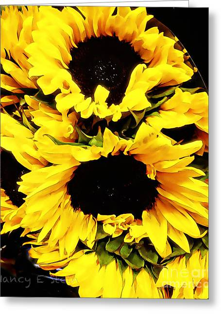A Bouquet Of Sunshine  Greeting Card by Nancy E Stein