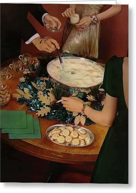 A Bowl Of Eggnog Greeting Card