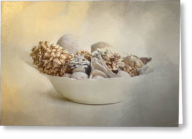 A Bowl Of Holiday Bounty Greeting Card by Jai Johnson