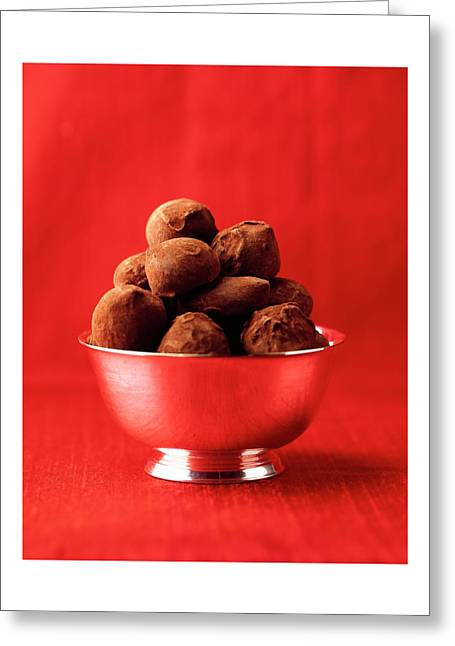 A Bowl Of Truffles Greeting Card