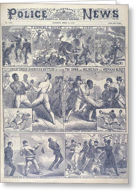 A Boxing Match Greeting Card by British Library