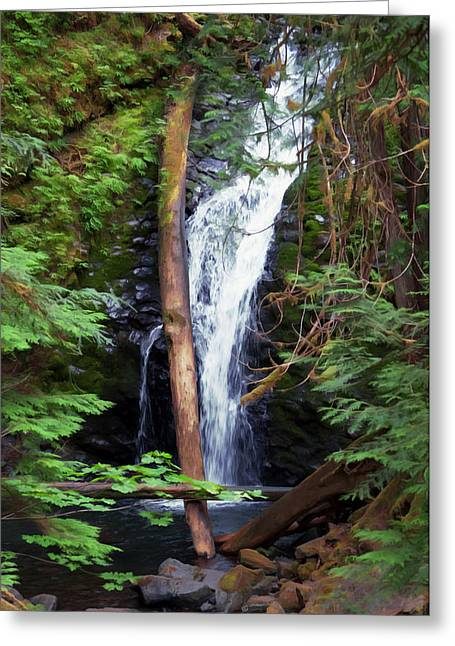A Breathtaking Waterfall. Greeting Card